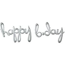 """Happy Birthday"" Μπαλόνι foil silver"