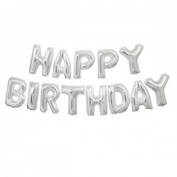 """Happy Birthday"" Μπαλόνια γράμματα"