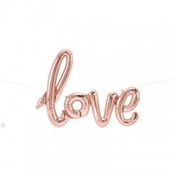 """LOVE"" Μπαλόνι rosegold"