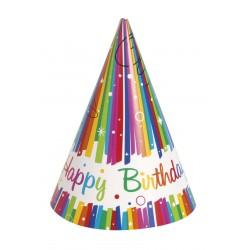 """Rainbow Ribbons Birthday"" Καπελάκι"