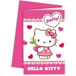 """Hello Kitty Hearts"" Προσκλήσεις"
